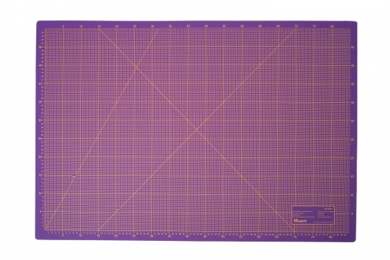 Cutting Mat, 3 layers, self-healing - colour: violet/pink - size: 600x900mm