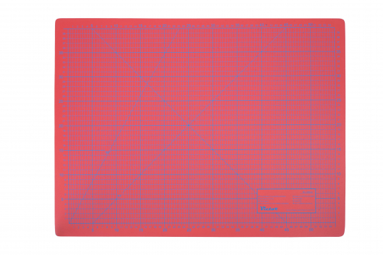 Cutting Mat, 3 layers, self-healing - colour: red/orange - size: 450x600mm