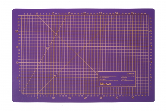 Cutting Mat, 3 layers, self-healing - colour: violet/pink - size: 300x450mm